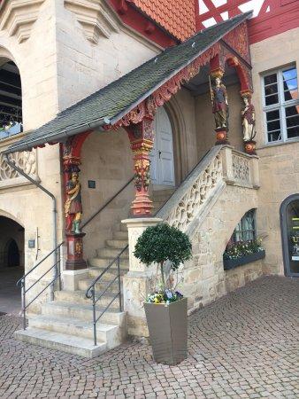 Duderstadt, Deutschland: Rathaustreppe