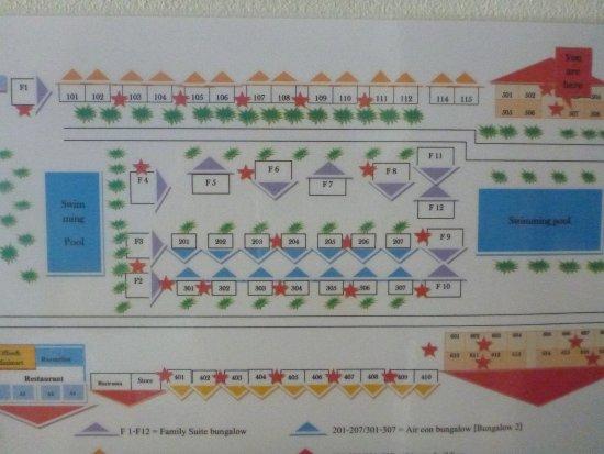 D.R. Lanta Bay Resort: Схема отеля