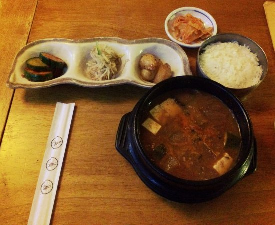 Kimchi: soy bean stew
