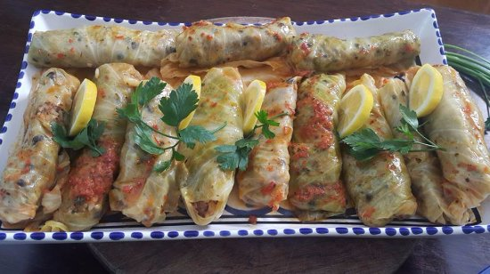 Epsom, نيوزيلندا: Sarma, cabbage stuffed with rice and lamb mince.