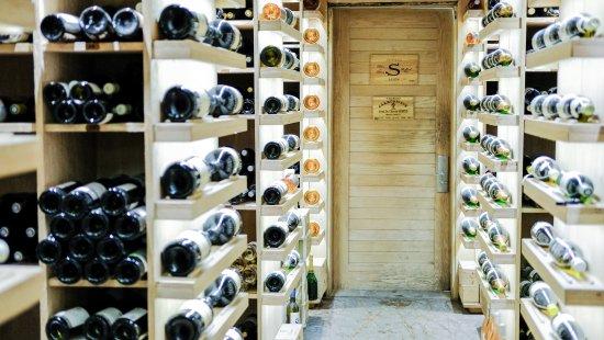 Constance Le Prince Maurice: wine cellar.
