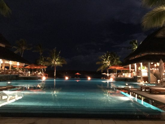 Constance Le Prince Maurice: one of the pools by night