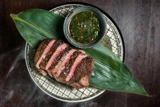 Mnky Hse: Beef Tenderloin & Chimichurri Sauce