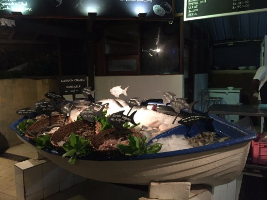 Seafood Cove: The boat is full of fishes to choose from ! Go and order as much !!