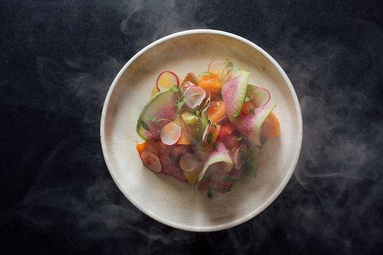 Mnky Hse: Smoked Tomato Heriloom Salad