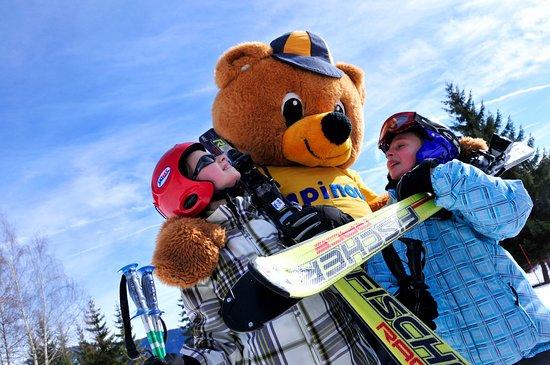 Capinou au ski - Village Club Cap'vacances de Valmorel-Doucy