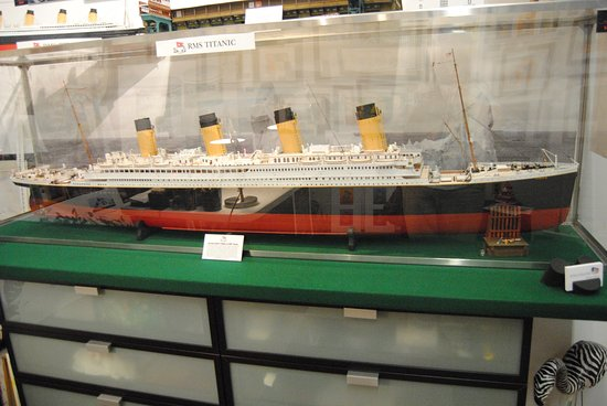 Gallery On First: A model in one of the Artist's areas--The Titanic