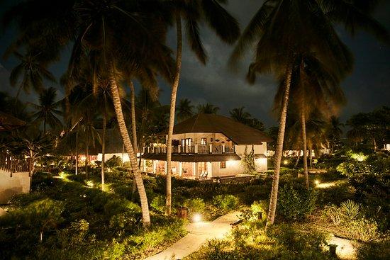 Breezes Beach Club & Spa, Zanzibar: View of the Breezes villa at dusk.