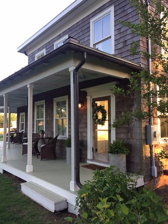 Sit and Relax on the wrap around porch at The Farmhouse Bed and Breakfast