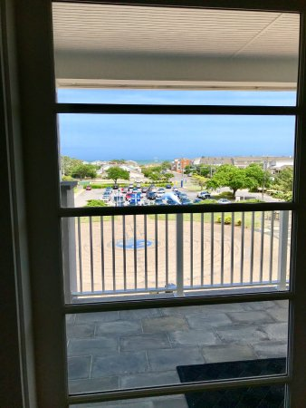 Edgar Cayce's A.R.E. Association for Research and Enlightenment: View from the 2nd Floor Lounge looking toward the Ocean past Atlantic Avenue