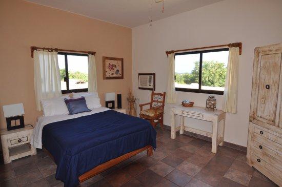 La Ribera, Mexiko: Standard Room #4 - Queen size bed and views of the Sea of Cortez.