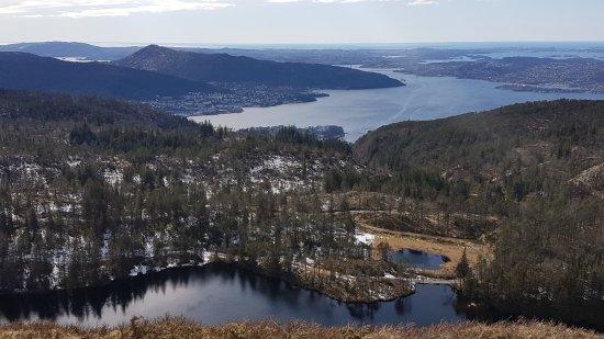 Vidden Trail between Mt. Fløyen and Mt. Ulriken Photo