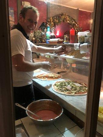 Area de preparacion de pizzas
