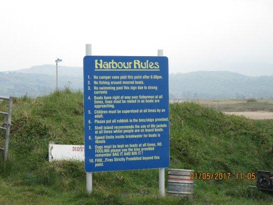 Llanbedr, UK: Harbour rules
