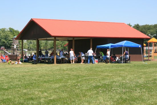 Monticello, IN: Campground Picnic area for large parties!