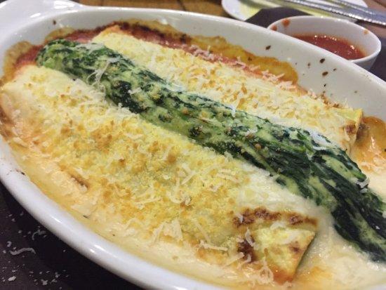 Cannelloni: spinach and tomato pasta, marinara, spinach, ricotta ...