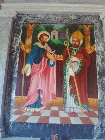Chiesetta dei SS. Filippo e Giacomo di Nosedo: Pala d'altare con i Ss. Filippo e Giacomo