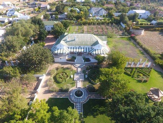 Riebeek-West, Afrika Selatan: vue aerienne du manoir