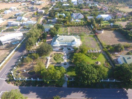 Riebeek-West, Afrika Selatan: vue aérienne du manoir
