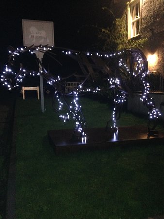 Lupton, UK: The Plough horse at night