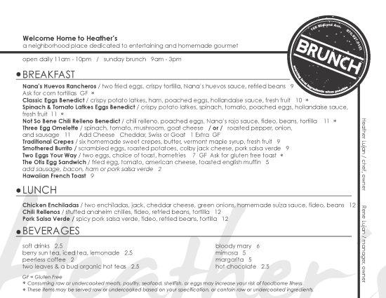 Basalt, CO: Brunch Menu