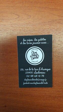 Landivisiau, Frankrig: La Carte de visite avec toutes les coordonnées.