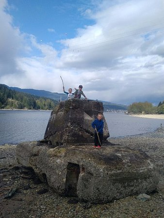 Burnaby, Canada: Remnant of the old sawmill? Big tank/castle for the kids.