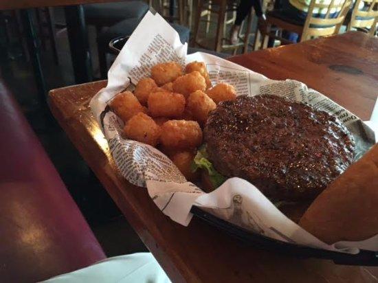 Garner, NC: The burger and tater tots