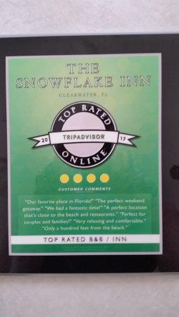 The Snowflake Inn : Recent Award