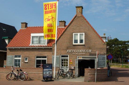 Vlieland-øen, Holland: De pui, hoofdingang gezien vanaf de veerboot