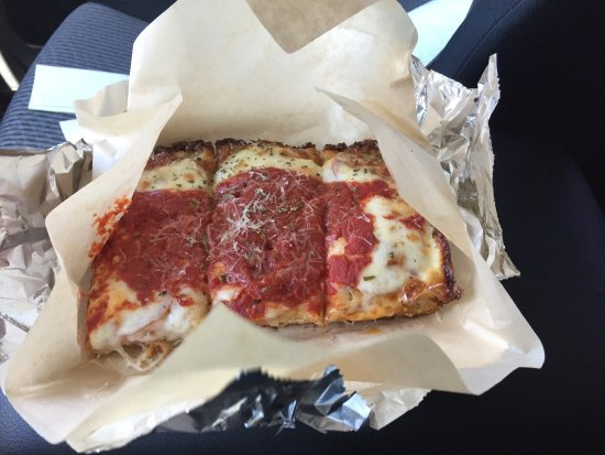 Eagle, CO: Detroit style custom cut pizza by the slice lunch special $5...