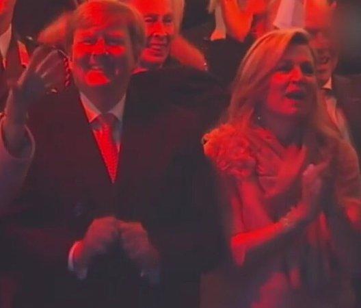 InterContinental Amstel Amsterdam: Koning Willem Alexander en koningin Maxima tijdens het Bevrijdingsconcert op de Amstel.