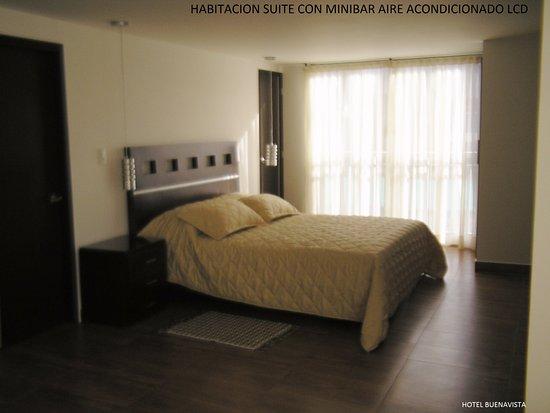 Hotel Buenavista: habitación suite para dos personas aire acondicionado  baño privado sala agua caliente t.v por c