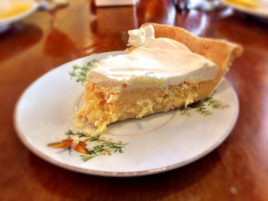 Crowell, TX: Coconut pie. Rich, dense, and delicious.