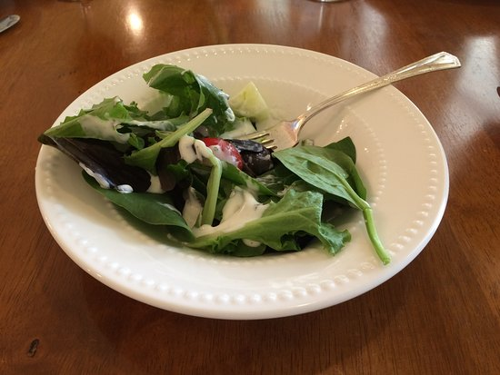 Crowell, TX : Spinach salad.