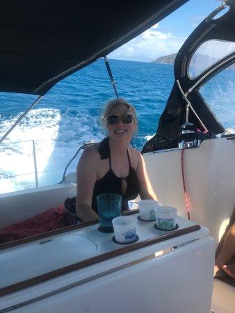 St. John Yacht Charters Survivan: having a ball celebrating my birthday!!