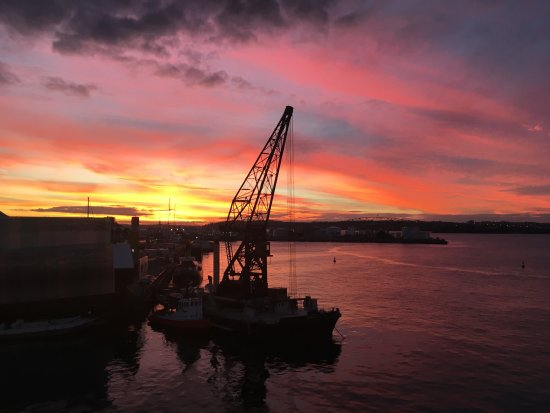 Auckland Waterfront Serviced Apartments: One of our stunning sunsets from the Balcony