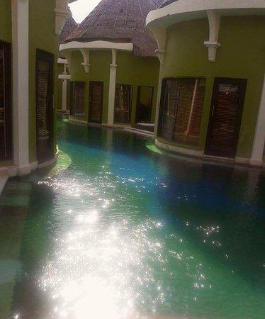 Lagoon Spa Seminyak: Lagoon Villa 7am (warm swim) 😊