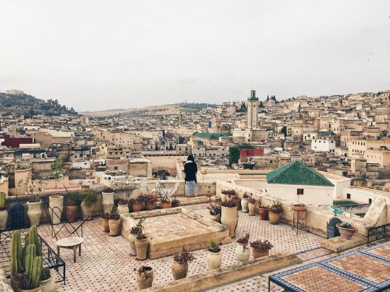 Dar Seffarine: Rooftop terrace - amazing views over the medina!