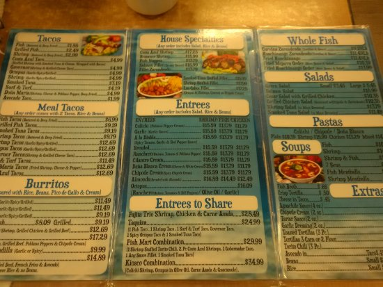 San Ysidro, CA: The menu has vast selections