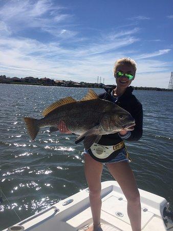 Atlantic Beach, FL: Big black drum for Hannah!
