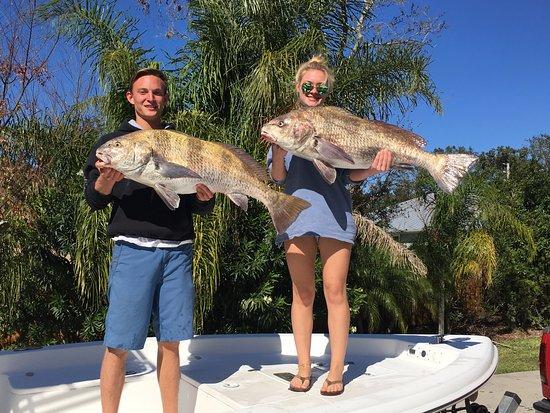 Atlantic Beach, FL: A pair of blackdrum we kept to make fish tacos!