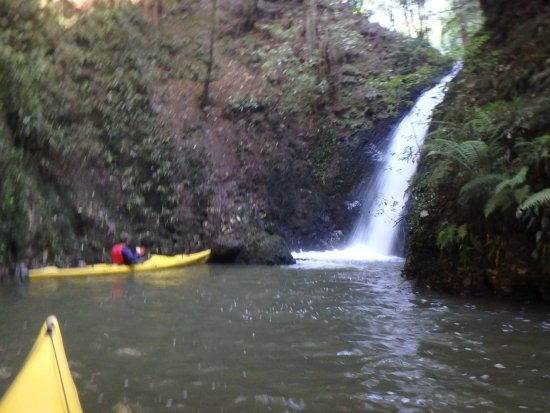 The Boatshed Kayaks: The bigger of the two waterfalls