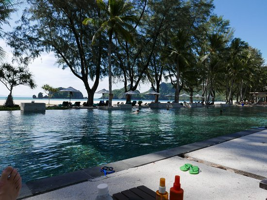 Tanjung Rhu Resort: the adult swimming pool ! xxxxx large ! cool and quiet !