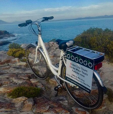 Our beautiful hermanus with our eBikes from Sweden