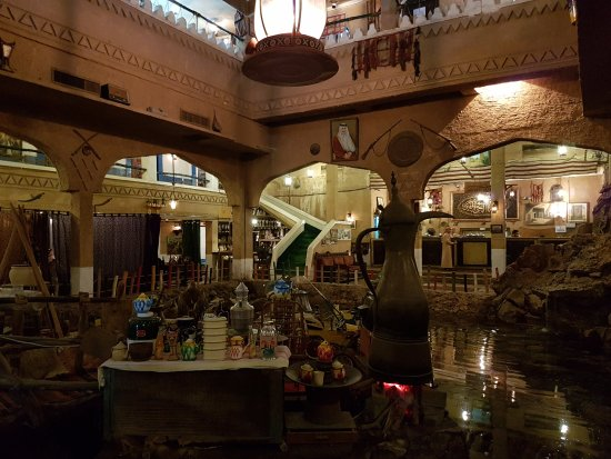 Restaurant interior picture of heritage village dammam