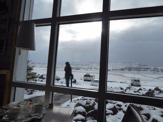 Bifrost, İzlanda: View from the restaurant/breakfast room