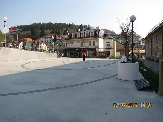 Luhacovice, Tsjekkia: peší zóna