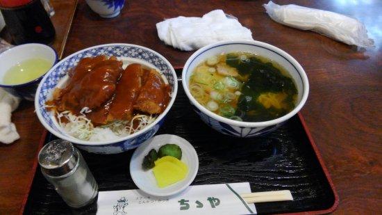 Toki, Japan: カツとミニラーメンセット