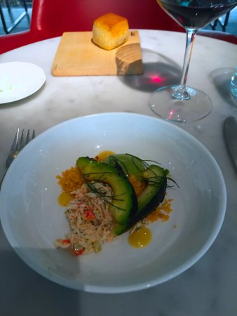 The Modern: Charred Avocado with King Crab salad